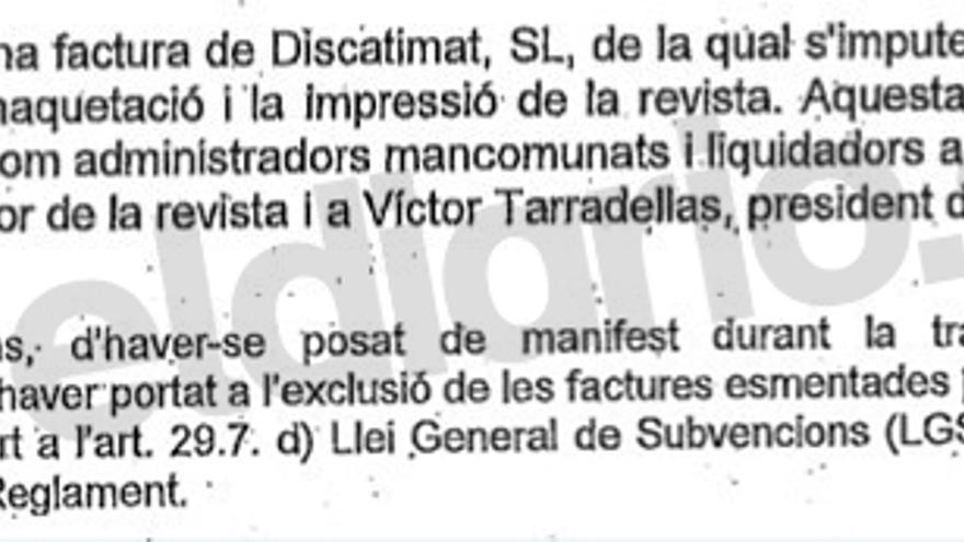 Informe de la Diputación sobre las subvenciones a IGMAN y CATMÓN