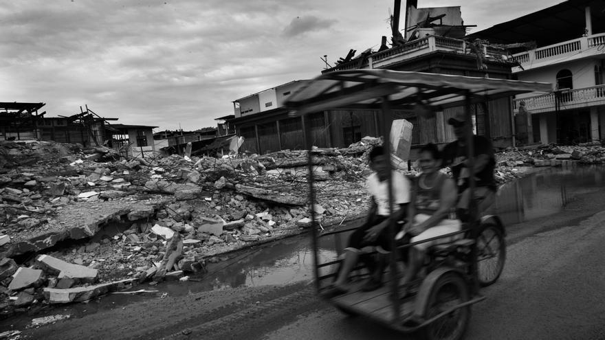 Zona afectada por el terremoto en la población de Calceta, provincia de Manabí, Ecuador. Fotografía: Albert Masias/MSF