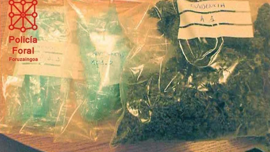La Policía Foral detiene a dos personas en Tudela por tráfico de drogas