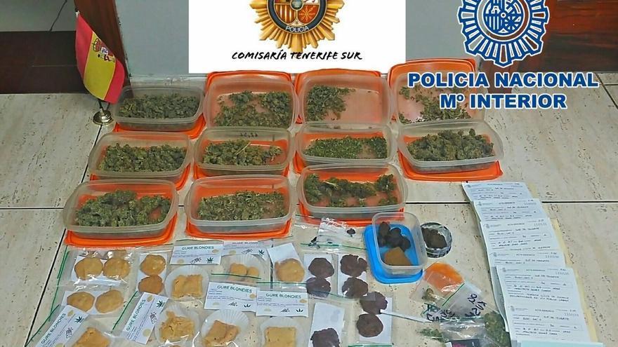 Imagen con la droga facilitada por las fuerzas de seguridad