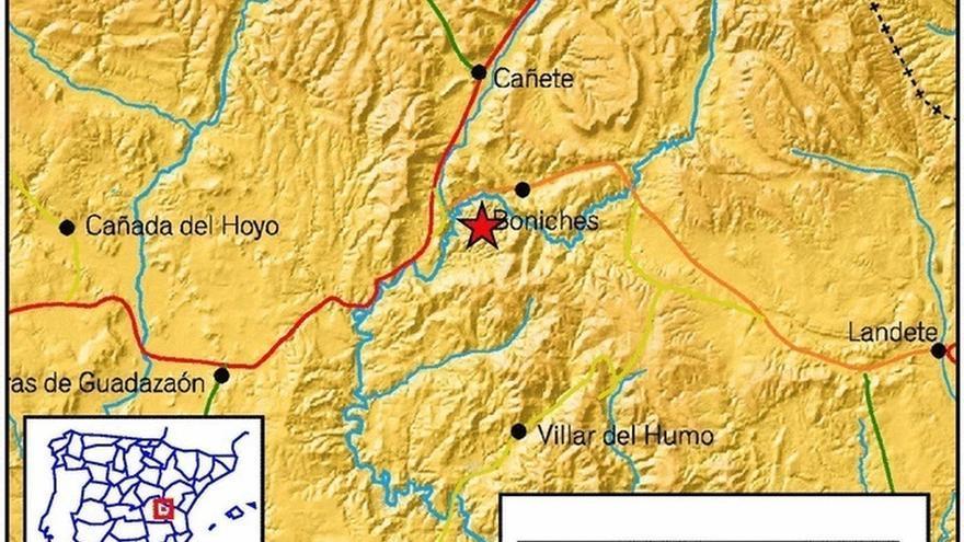 Registrado un terremoto en Boniches (Cuenca), el tercero en dos días en Castilla-La Mancha