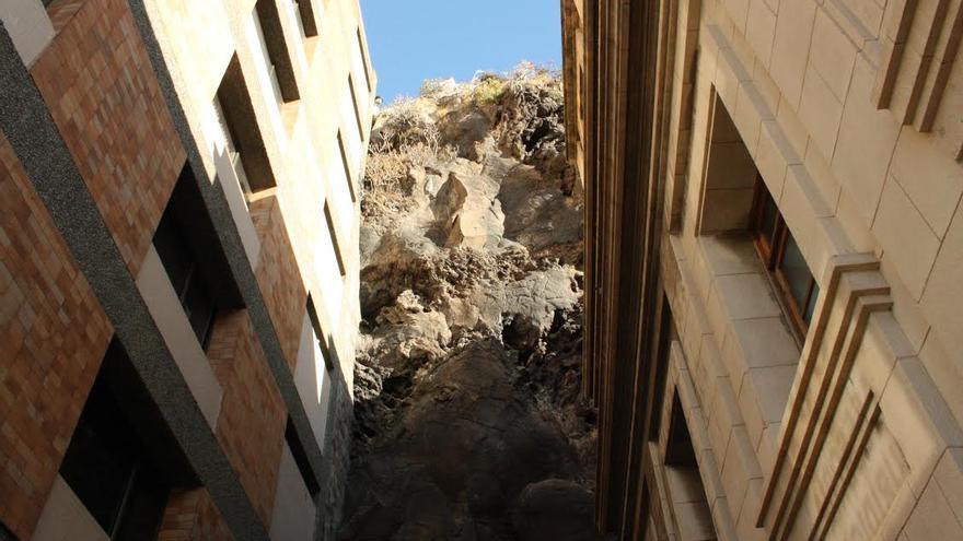 En imagen, zona donde se colocará el primer ascensor urbano y turístico de La Palma.