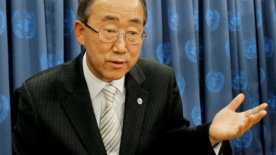 Ban insiste en que la paz en Oriente Medio sólo llegará con un Estado palestino