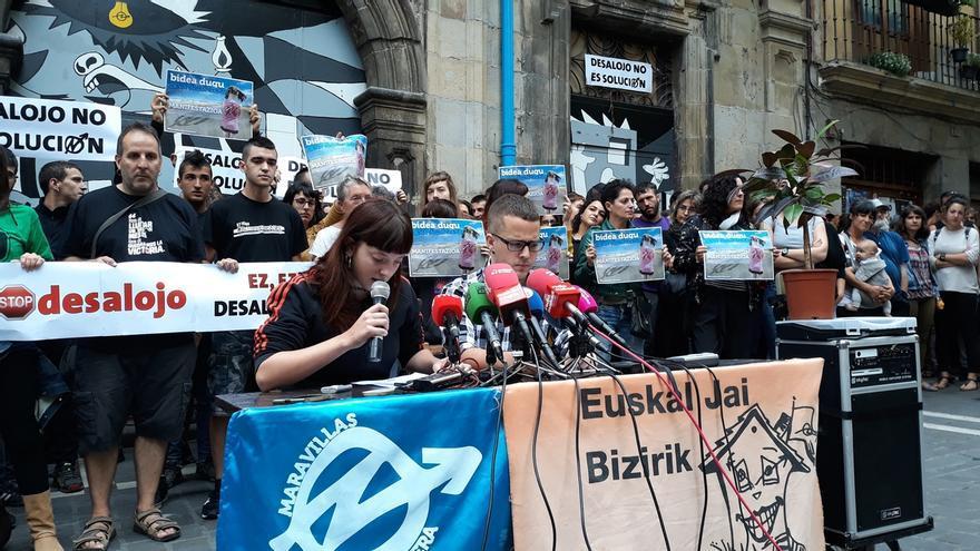 El 'Gaztetxe Maravillas' condiciona el diálogo con el Gobierno de Navarra a la retirada de la petición de desalojo