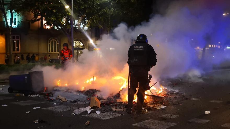 Tres detenidos en Barcelona por los disturbios cerca de la Delegación del Gobierno