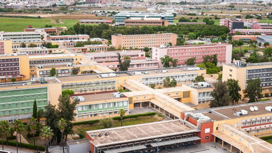 Archivo - Vista área del campus de la UPO
