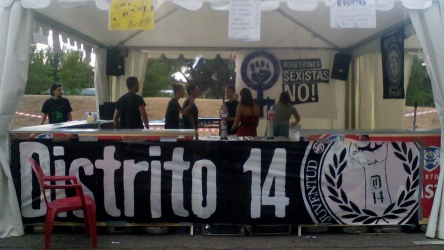 Caseta de Distrito 14 durante las fiestas de Moratalaz.