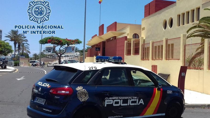 Patrulla de la Policía Nacional en Telde
