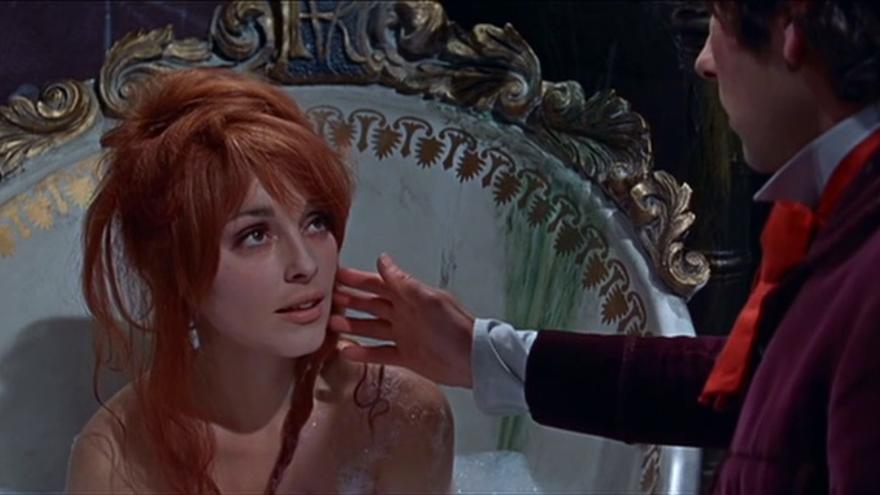 Su segunda esposa, Sharon Tate, en 'El baile de los vampiros'