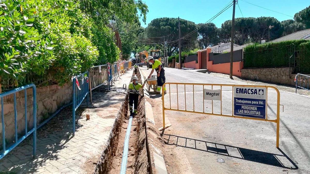 Obras de Emacsa en Cerro Muriano.