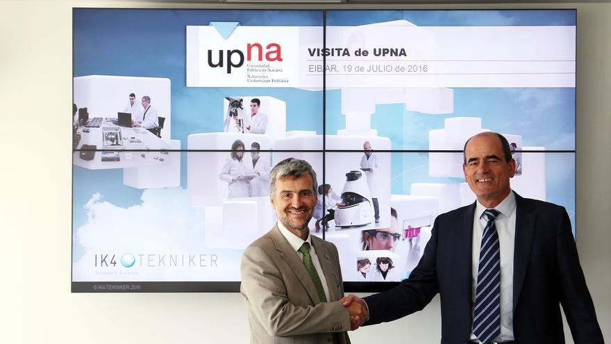 La UPNA firma un acuerdo de colaboración con IK4-TEKNIKER para facilitar el acceso de alumnos al mercado laboral