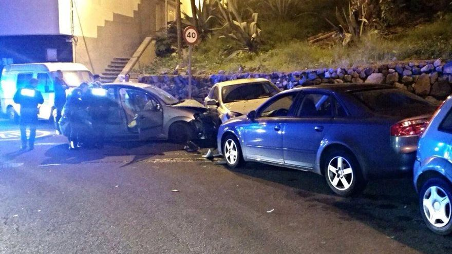 Accidente en Almatriche. Foto: @PoliciaLPA