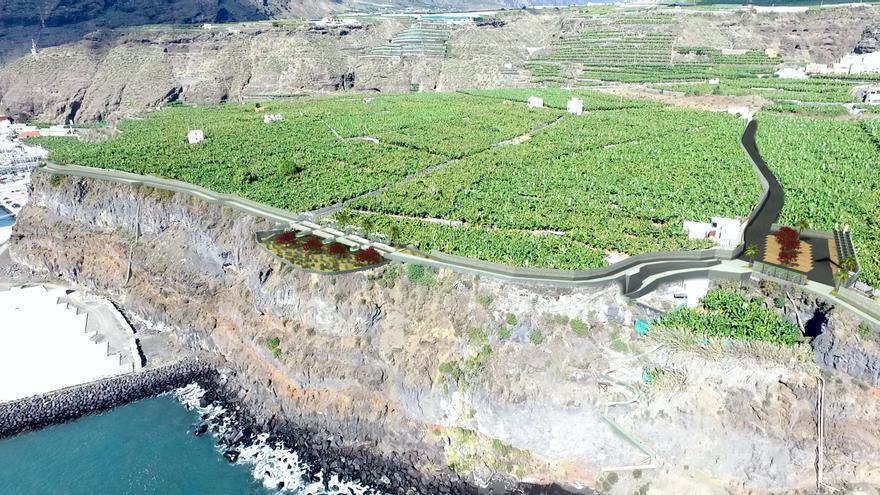 Recreación del 'Paseo del litoral' de Tazacorte.