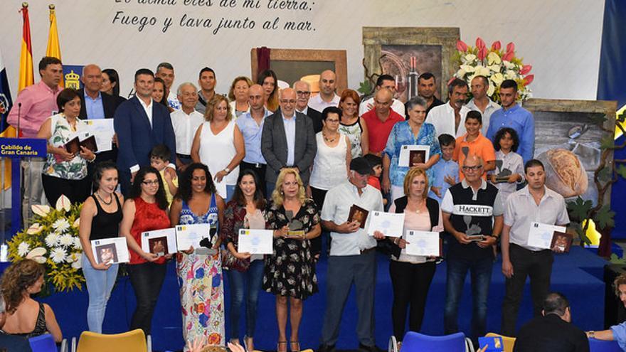 Entrega de premios a los productores de quesos y a las bodegas por el Cabildo de Gran Canaria
