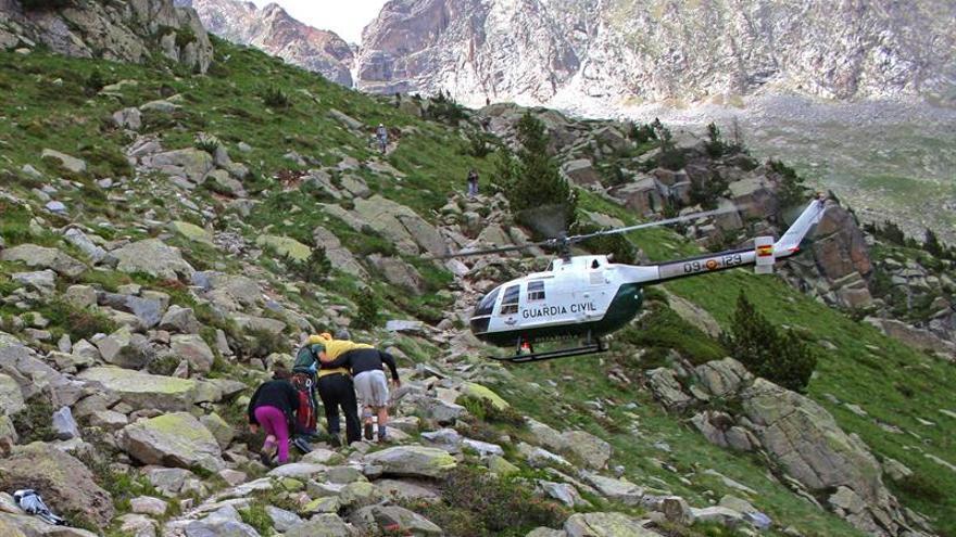 Rescatados dos montañeros catalanes sorprendidos por una tormenta en Pirineo