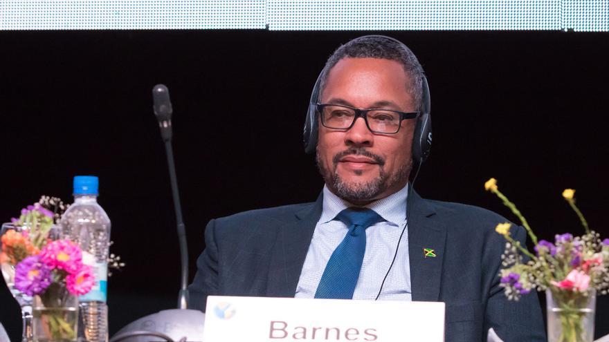 """En la imagen un registro de Christopher Barnes, presidente de la Sociedad Interamericana de Prensa (SIP), quien afirmó que """"este hecho tan lamentable debe llamarnos la atención sobre los riesgos que enfrentan los periodistas en el trabajo por informar a sus comunidades""""."""