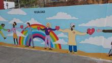 En la imagen, una parte del mural que se inaugura este lunes.