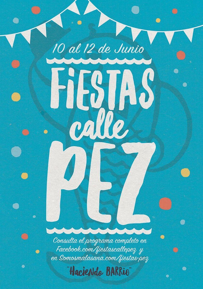 Cartel oficial de las Fiestas de la calle Pez 2016