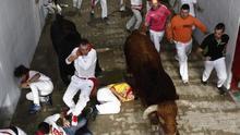 Aumentan a dos los heridos por asta de toro en el cuarto encierro