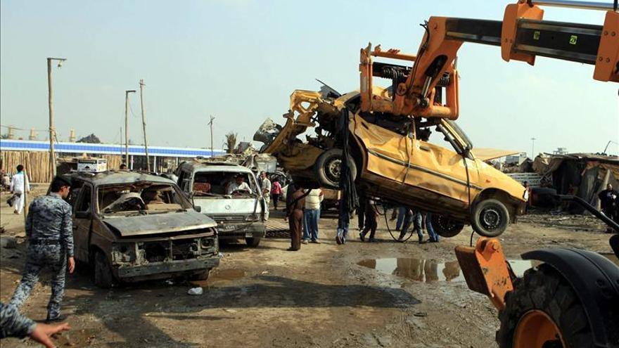 Ascienden a 25 muertos y 108 heridos las víctimas en los atentados de ayer en Bagdad
