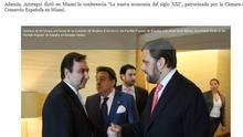 Tres empresarios amigos de Aznar montaron la empresa Partido Popular USA Inc en Miami