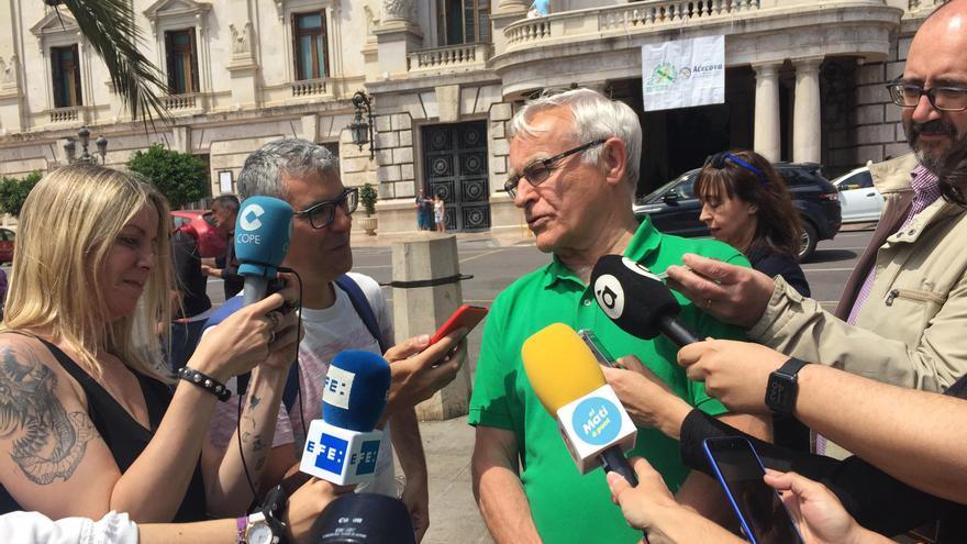 El alcalde de València en funciones, Joan Ribó