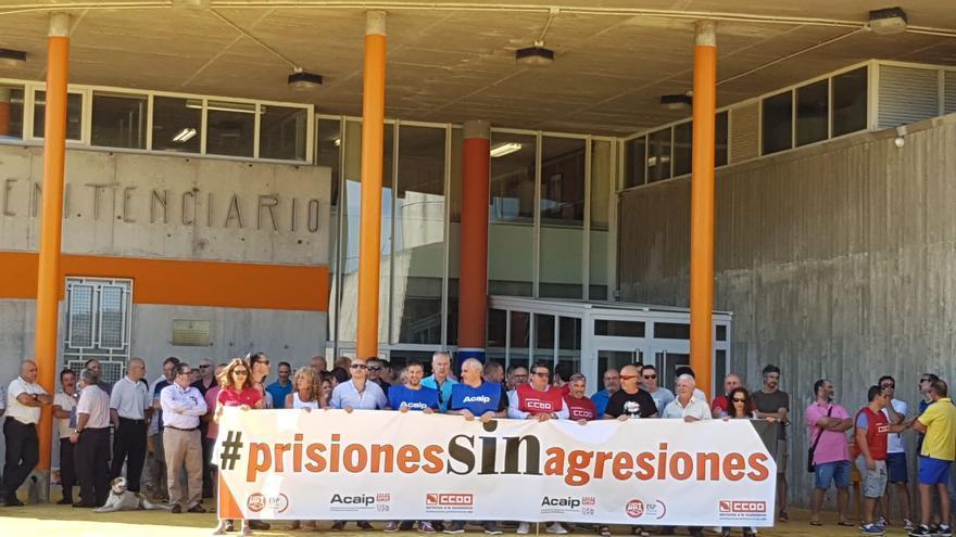 Protesta de los funcionarios de prisiones en A Lama, Pontevedra