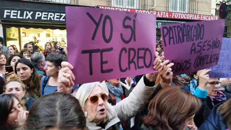 Concentración en Madrid en apoyo a la víctima de 'La manada'