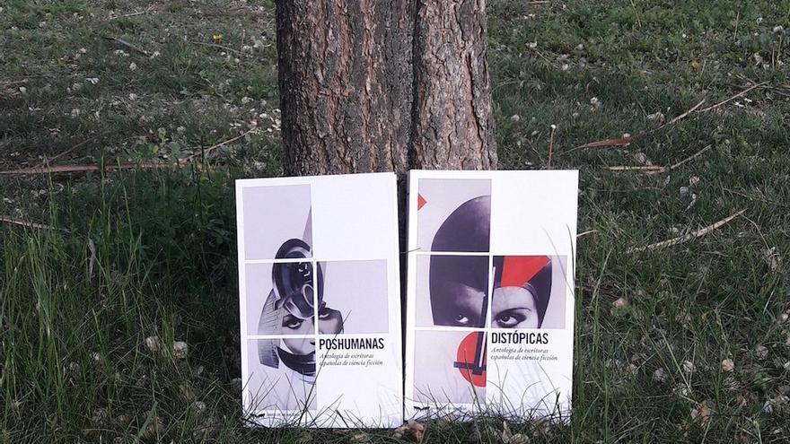 La antología en dos volúmenes 'Distópicas' y 'Poshumanas', editada por Libros de la ballena