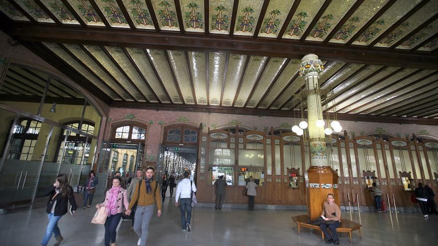 El vestíbulo de la Estación del Norte, en Valencia