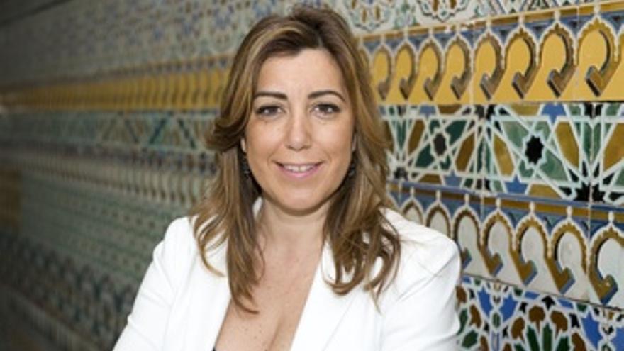 Susana Díaz, en un patio del Palacio de San Telmo