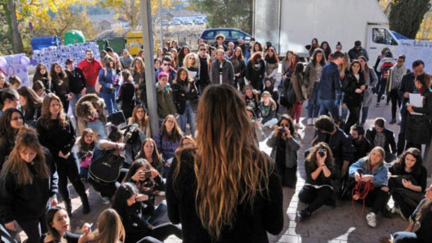 Estudiantes contra la violencia machista en el Campus de Cuenca