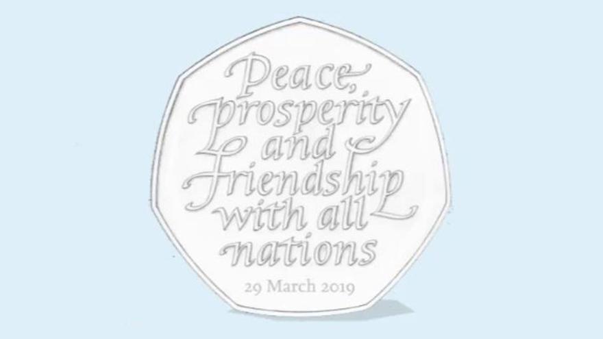 Imagen de la moneda de 50 peniques que se tenía previsto poner en circulación