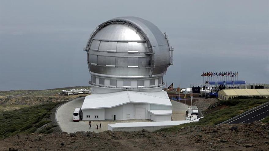 Imagen de archivo del 24 de julio de 2009 del Gran Telescopio Canarias (Grantecan), ubicado en el Observatorio del Roque de Los Muchachos, en las cumbres de Garafía.