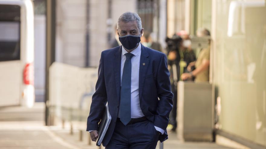 El lehendakari, Iñigo Urkullu, este jueves en el Parlamento Vasco