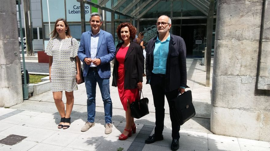 María Sánchez, Pablo Zuloaga, Ana Belén Álvarez y Miguel Rodríguez.