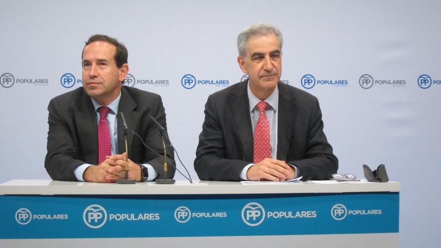 """Barreda (PP) confía en alcanzar un acuerdo con el PNV para aprobar el techo de gasto y valora la """"disposición"""" jeltzale"""