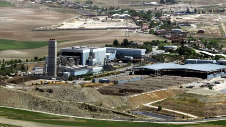 Vista general de la incineradora madrileña de Valdemingómez.