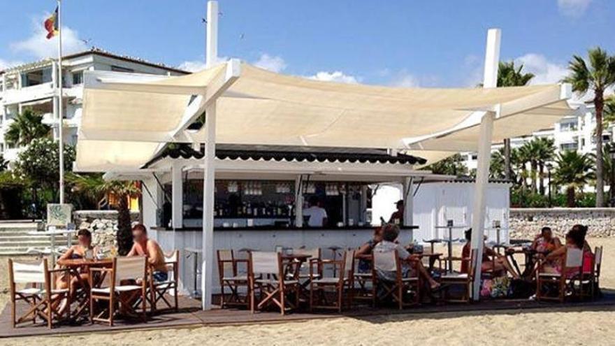 Modelo de quiosco que se radicará en la playa del barrio de San Andrés