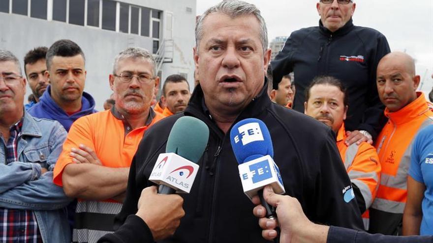 El presidente de la Asociación Sindical de Estibadores Portuarios (ASEP) del Puerto de Las Palmas, Miguel Rodríguez