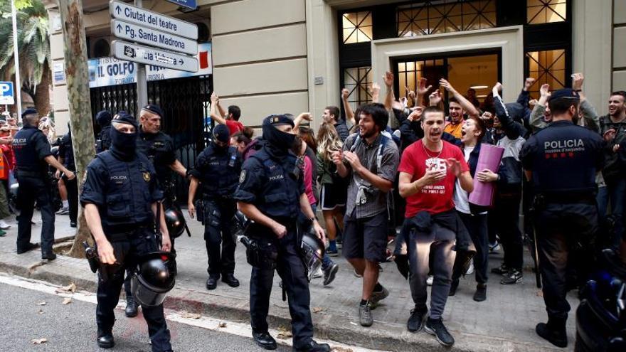 Intento de desahucio en Barcelona