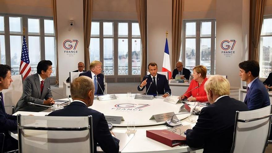 Los líderes del G7 abren el día con la seguridad y el comercio en el menú