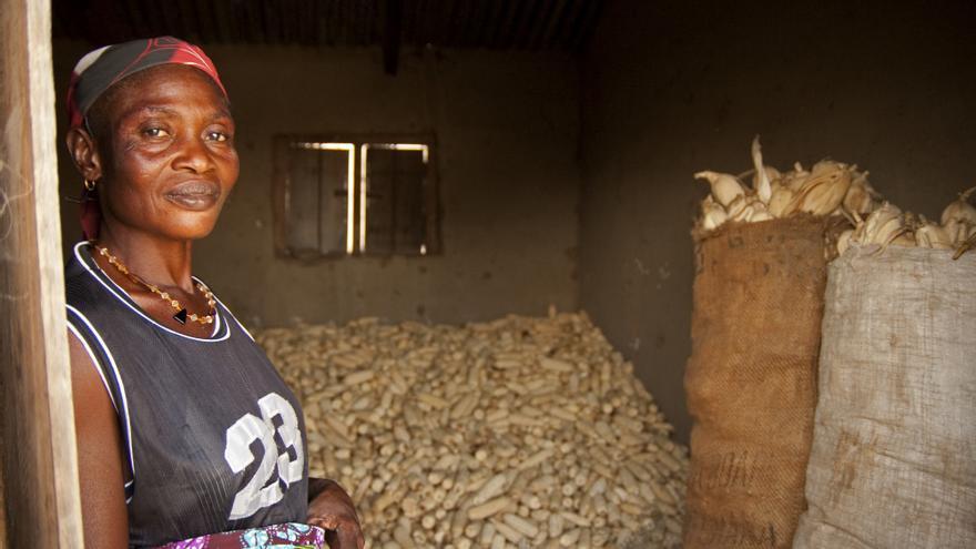 Ramatu Yakuba, cultivadora de maíz en el norte de Ghana, uno de los 10 países del mundo más afectados por el cambio climático