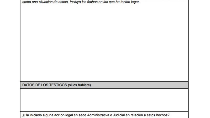 Escrito modelo de la Universidad Carlos III de Madrid para denunciar acoso sexual.