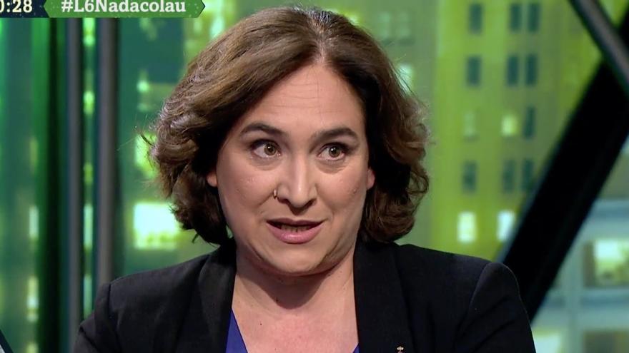 Ada Colau durante su entrevista en La Sexta Noche