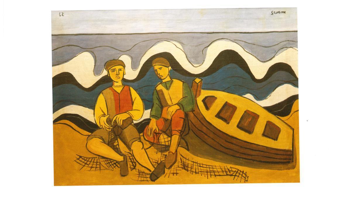 'Mariñeiros', una de las obras atribuidas a Luís Seoane y cuya autoría cuestiona un informe.