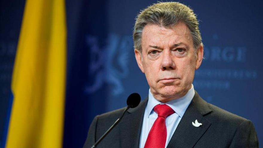 Santos le agradece al papa su bendición para la paz de Colombia