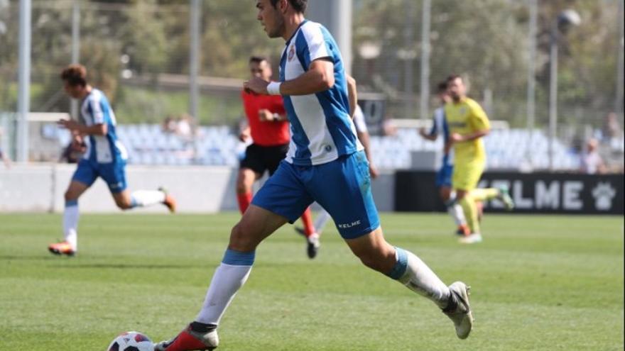 Bermejo, luciendo la camiseta del RCD Espanyol de Barcelona, su club de procedencia