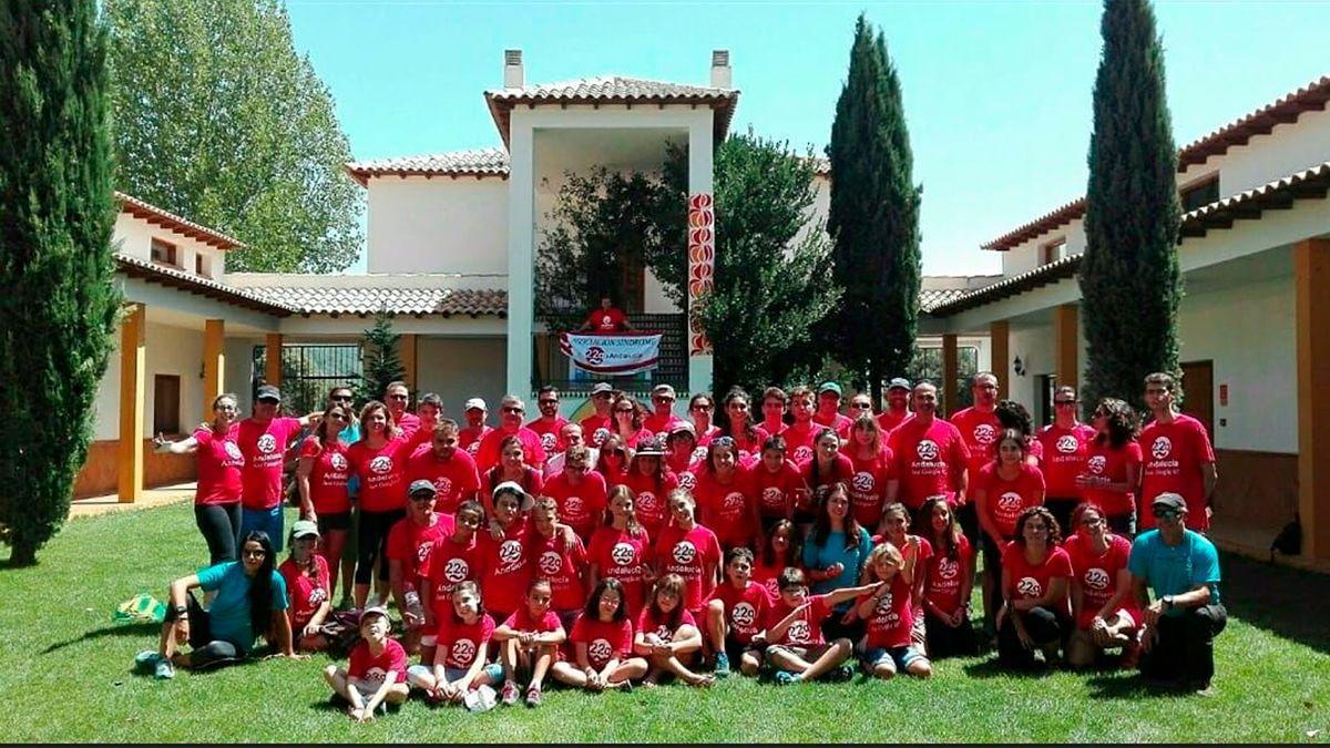 Imagen de archivo de un campamento de la Asociación Síndrome 22q Andalucía.