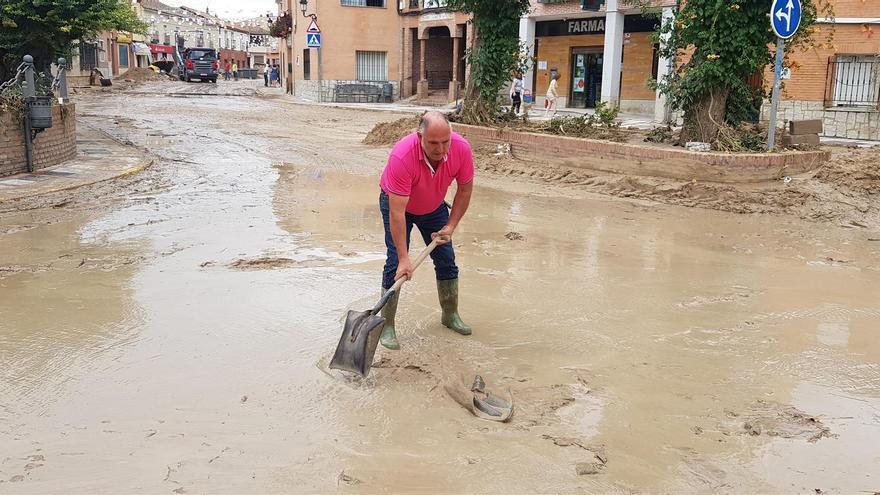 Así se prepara un pueblo de Toledo con antecedentes de inundaciones ante la llegada de 'Gaetán'